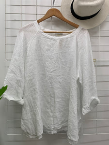 Everyday Linen Top White