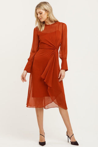 Cooper St Dustey Midi Dress Rust