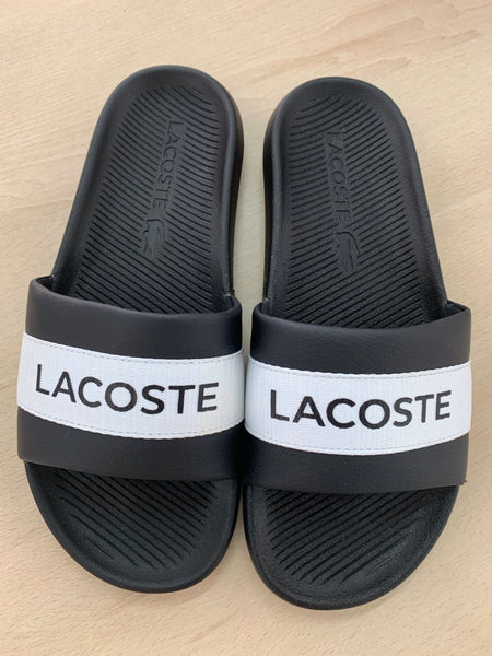 LACOSTE - black and white slides