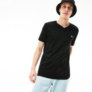 Lacoste Men's Basic V Neck Tee Blk