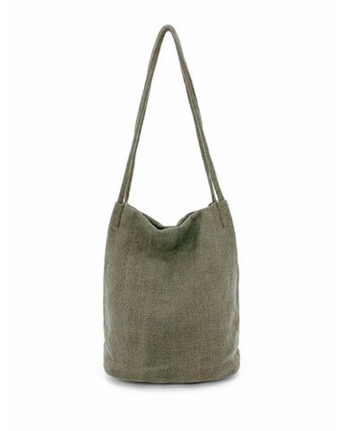 Natural Long Handle Bag Green