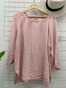 Everyday Linen Top Baby Pink