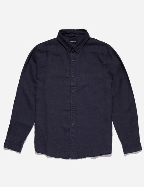 Mr Simple Linen Long Sleeve Shirt