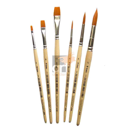 Multi-Purpose Brush Set x 6 - Natural Handle