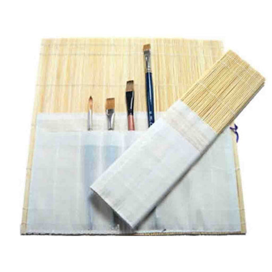 Bamboo Brush Holder (Roll-Up Case)