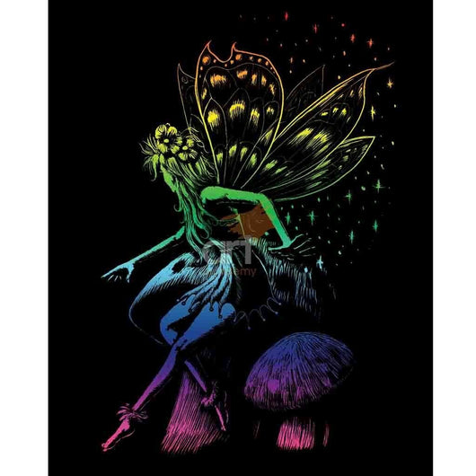 Engraving Art - Fairy Princess (Rainbow) - Art Academy Direct
