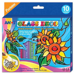 Glass Deco Set x 10 Colours 10.5ml - Art Academy Direct