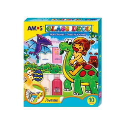 Glass Deco Set x 10 Colours 22ml - Art Academy Direct