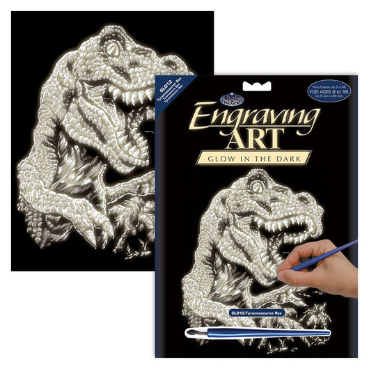 Glow in the Dark Engraving - T-Rex - Art Academy Direct