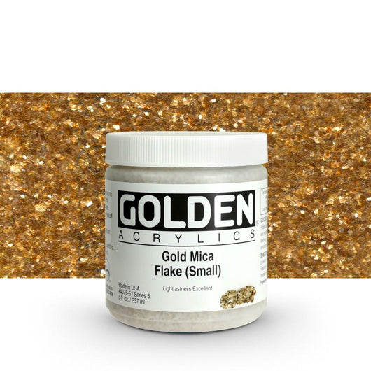 Gold Mica Flake (Small) - Art Academy Direct