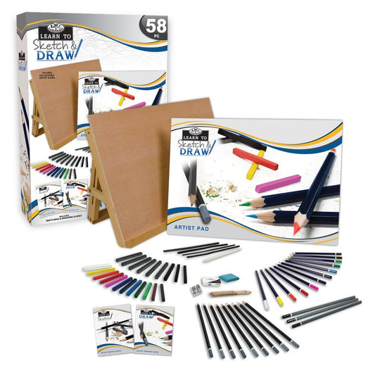 Learn To Sketch & Draw Set - 58 pc - Art Academy Direct