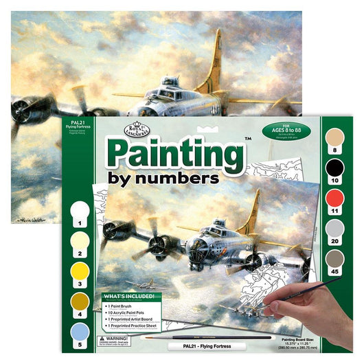 Paint by Numbers - Flying Fortress (Adults) - Art Academy Direct