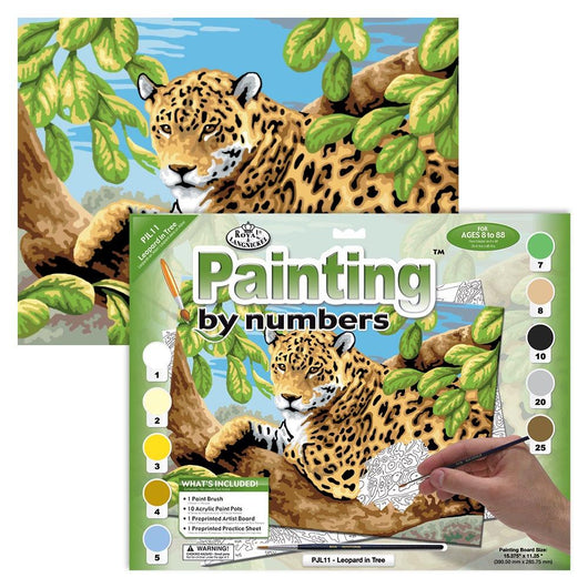 Paint by Numbers (Junior) - Leopard (Ages 8+) - Art Academy Direct