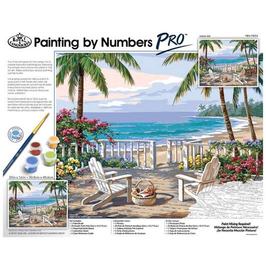 Paint by Numbers PRO - Coastal View (Adults) - Art Academy Direct malta