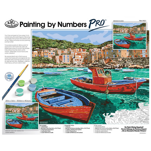 Paint by Numbers PRO - Crepuscolo in Languna (Adults) - Art Academy Direct malta