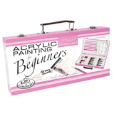 Pink Beginner Acrylic Painting Set 25 piece - Art Academy Direct