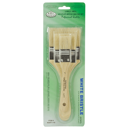 Value Pack Large Area Bristle Brush Set (x3) - Art Academy Direct