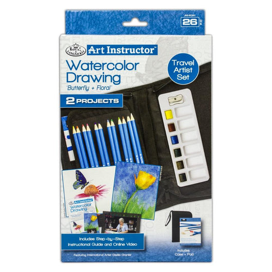 Watercolor Drawing Travel Set - 26 pc - Art Academy Direct