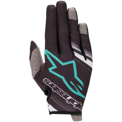 Alpinestars RADAR Motocross Gloves Black Teal