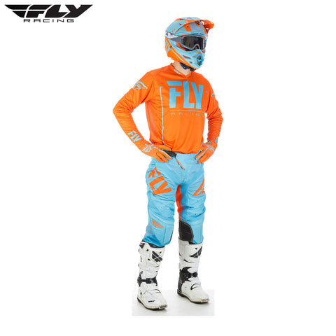 Fly 2018 Lite Hydrogen Jersey and Pants Combo (Orange/Blue)