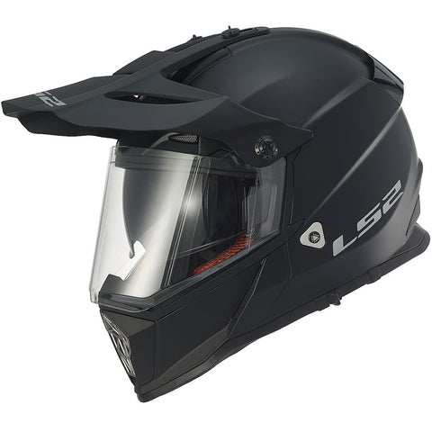 LS2 Pioneer MX436 Dualsport Helmet (MATT BLACK)