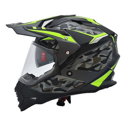 Yohe 632A Dualsport Adventure Helmet (7# Matt Grey/Fluo Yellow)