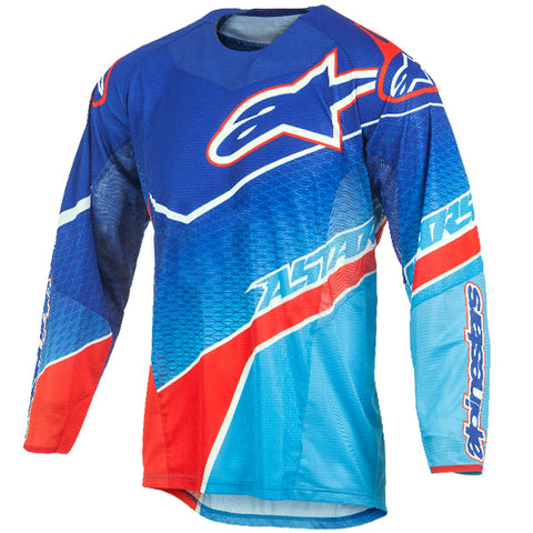 Alpinestars Techstar Jersey - Venom Blue Cyan Red
