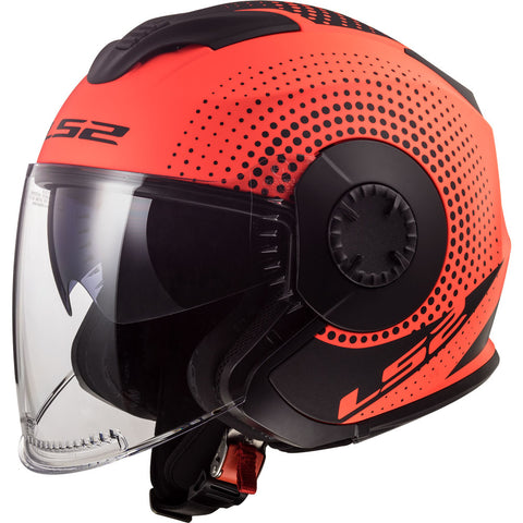 LS2 OF570 Verso Helmet (SPIN FLUO ORANGE)