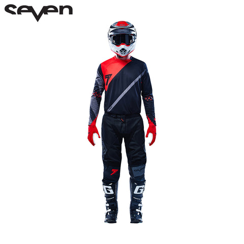 Seven MX 16.2 Rival Fuse Jersey and Pants Set (Black/Red)