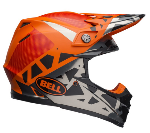 Bell MX Moto-9 Mips Adult Helmet (Tremor Black/Orange/Chrome)