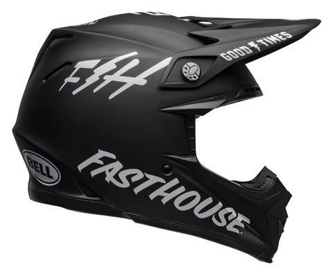 Bell MX Moto-9 Mips Adult Helmet (Fasthouse Black/White)