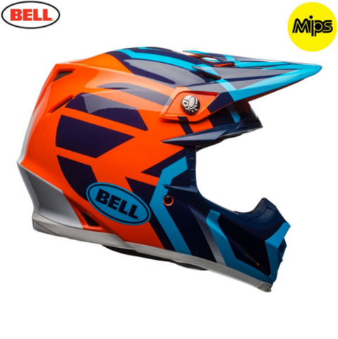 Bell MX Moto-9 Mips Adult Helmet (District Blue/Orange)
