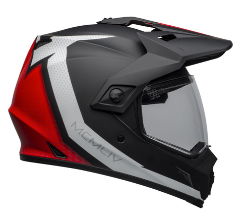 Bell MX-9 Adventure Mips Helmet (Switchback Matte Black/Red/White)