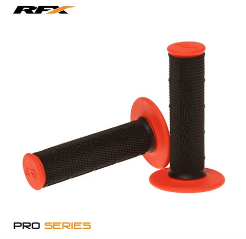 RFX Pro Series Dual Compound Grips (Black/Orange) Pair