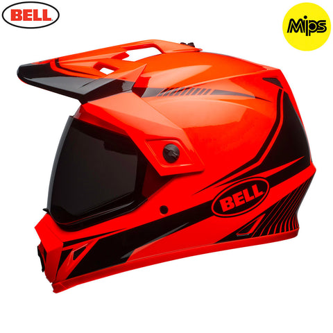 Bell MX-9 Adventure MIPS Adult Helmet (Torch Orange/Black)