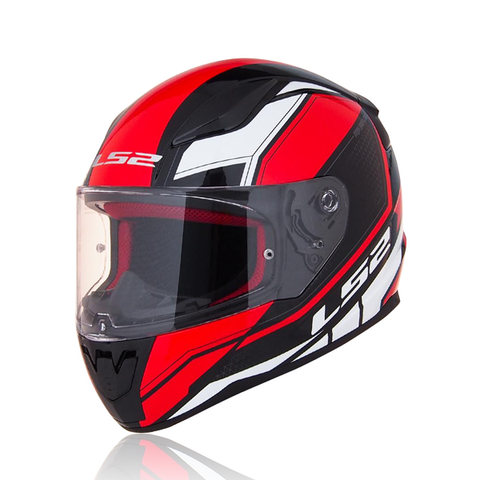 LS2 Rapid Fullface Helmet FF353 (INFINITY BLACK RED WHITE)
