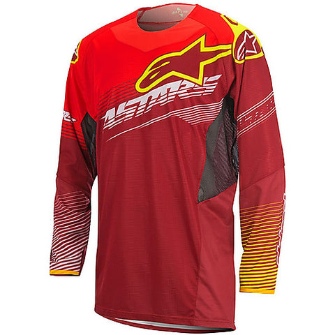 Alpinestars Moto Cross Enduro Factory Techstar Jersey Red Yellow