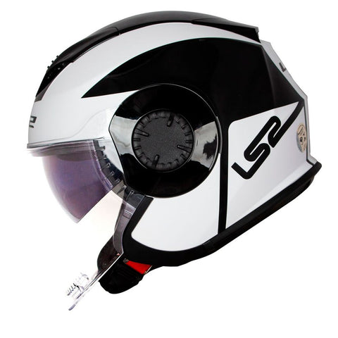 LS2 OF570 Verso Helmet (MOBILE BLACK WHITE