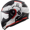LS2 Rapid Fullface Helmet FF353 (GHOST WHITE BLACK RED)