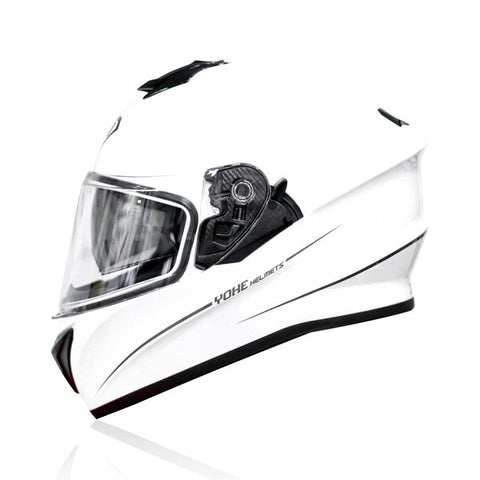 Yohe 981 Helmet (Solid Gloss Pearl White With Line)