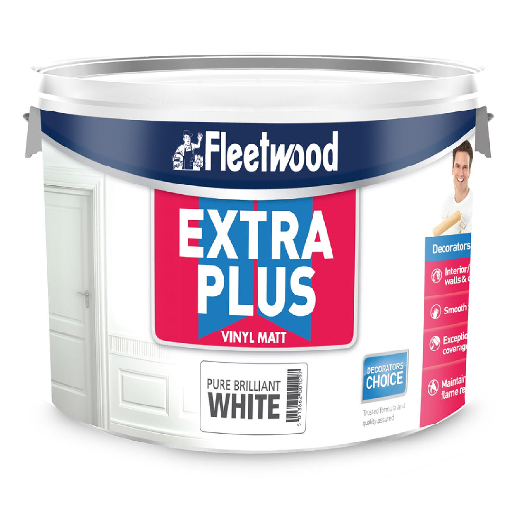 Fleetwood Extra Plus Vinyl 2.5ltr, Matt White