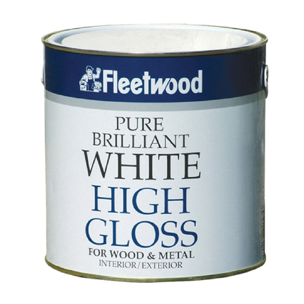 Fleetwood 2.5ltr Oil Based Trims, Gloss, Brilliant White