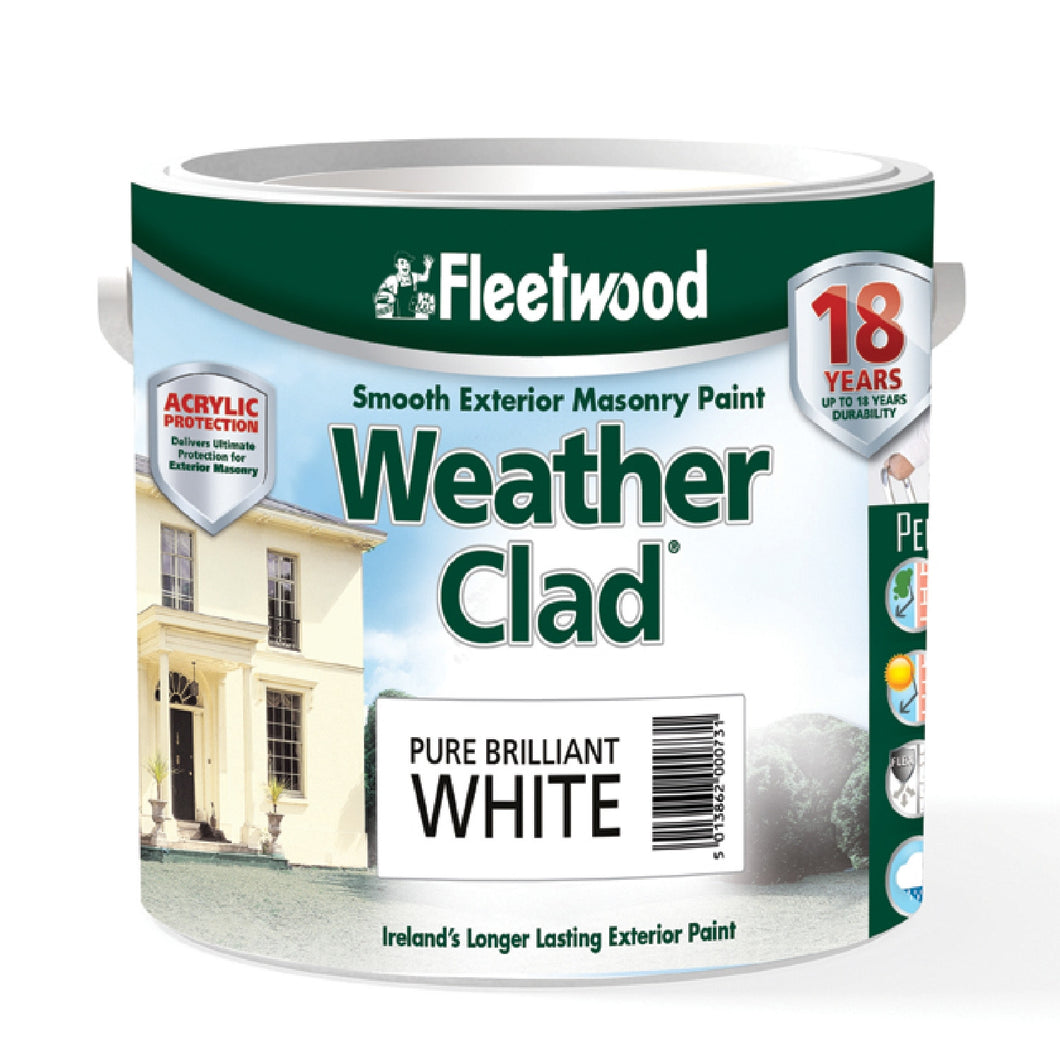 Fleetwood Weather Clad 5ltr, Brilliant White