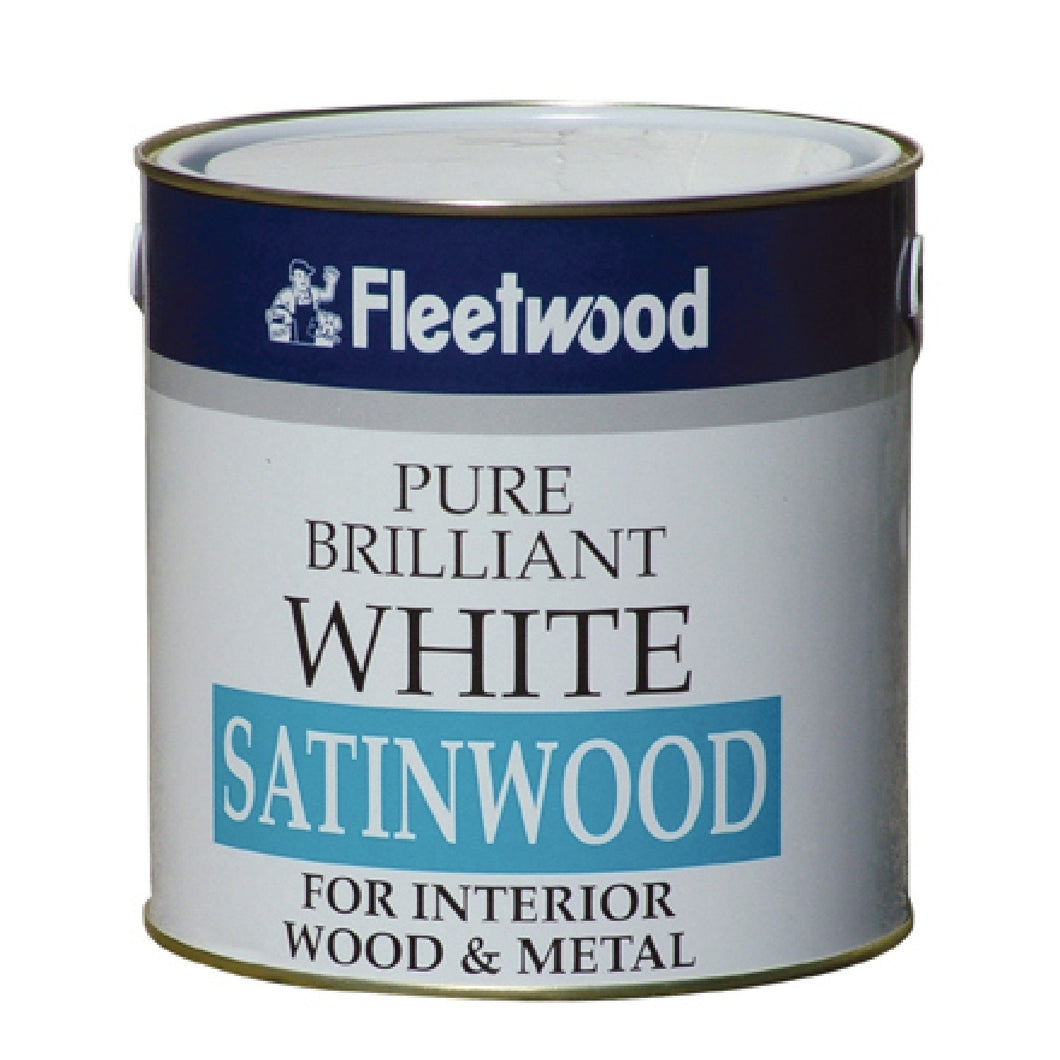Fleetwood 1ltr Satinwood, Brilliant White