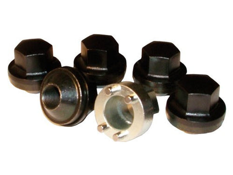 Locking wheel nuts for steel wheels