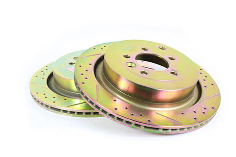 Terrafirma vented rear cross drilled and groved brake disc (D3 4.4P & RRS)