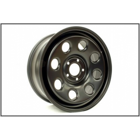 TF152 TERRAFIRMA 18X8 ET45 STEEL WHEEL D3/D4/RRS SATIN BLACK WITH NUTS