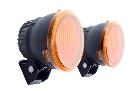 Pair Terrafirma 125MM LED Spot lights with Amber Filters TF705