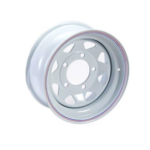 GRW001 8 SPOKE STEEL WHEEL (WHITE)