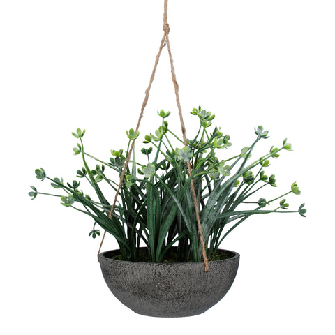 Gisela Graham Faux Japanese Wax Flower Hanging Plant